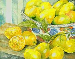 lemons - watercolor by Donna Andrews